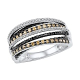 Кольцо из белого золота с бриллиантами Виконтесса