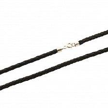 Кожаный шнурок с серебром Ниагара