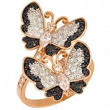 Кольцо из красного золота Весенние бабочки