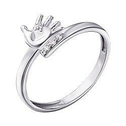 Серебряное кольцо с фианитами 000141191