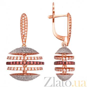 Серьги-подвесы из красного золота Карамболь VLT--ТТ2221-4