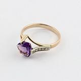 Золотое кольцо с александритом и фианитами Ингеборга