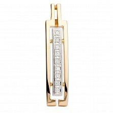 Золотая подвеска с бриллиантами Индустрия