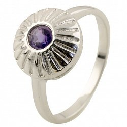 Серебряное кольцо Юлиана с александритом