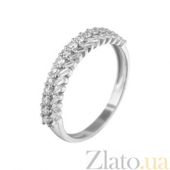 Кольцо из белого золота Аглая с бриллиантами 000080987