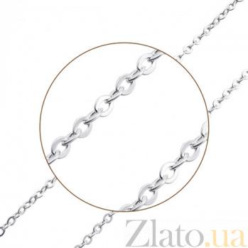 Серебряная родированная цепь Шани 000057213