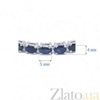Серебряный браслет с сапфирами Дип Блю AQA--B00067S