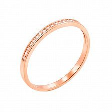 Кольцо из красного золота Нежное чувство с бриллиантами