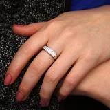 Серебряное кольцо с фианитами Джуя