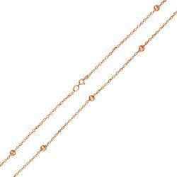 Колье из красного золота в кордовом плетении 000125350