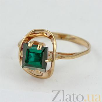 Золотое кольцо Заир с синтезированным аметистом VLN--112-813-55