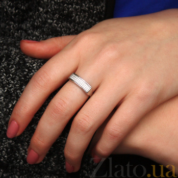 Серебряное кольцо с фианитами Джуя 2177.1