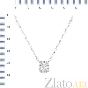 Серебряное колье Матильда с фианитами 000081690