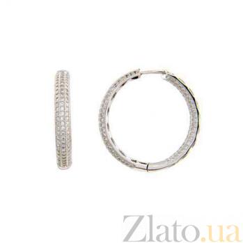 Серебряные серьги-кольца Конго AQA-SK-FC030-E