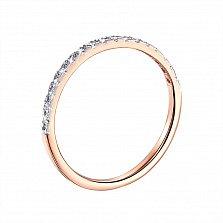 Золотое кольцо Лучиана в комбинированном цвете с дорожкой из фианитов