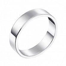 Обручальное кольцо из белого золота Американская модель
