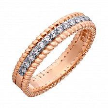 Золотое кольцо Нионда с дорожкой фианитов