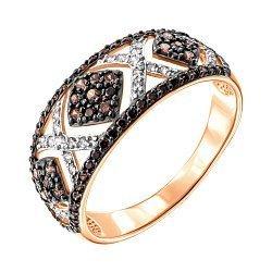 Золотое кольцо с фианитами 000139985