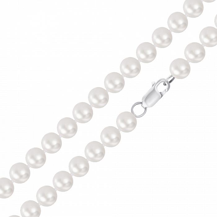 Бусы из серебра и жемчуга 10-10,5 мм 000148126 000148126