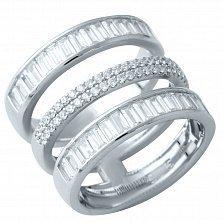 Серебряное кольцо Галадриэль с фианитами