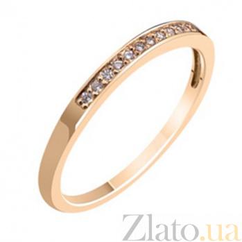 Золотое обручальное кольцо с бриллиантами Признание KBL--К1572/крас/брил