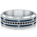 Мужское обручальное кольцо из белого золота Тайна: Вдохновение