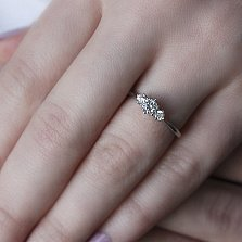 Серебряное кольцо Меррис с фианитами