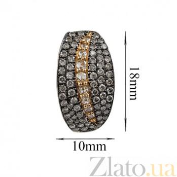 Золотые серьги с бриллиантами Призрак ночи 000026655