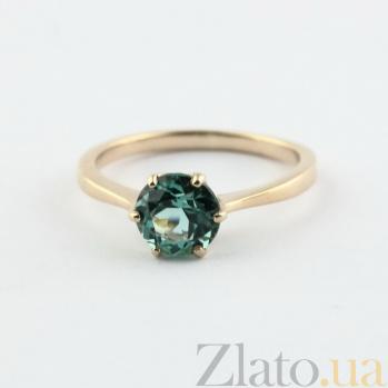 Золотое кольцо Брайди с синтезированным аметистом 000024465