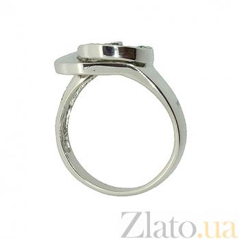 Серебряное кольцо с изумрудами Фиделия ZMX--RE-6451-Ag_K