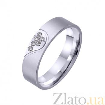 Золотое обручальное кольцо Половинка TRF--422310