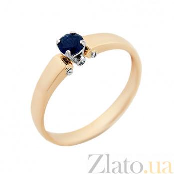 Золотое кольцо Елена в комбинированном цвете с сапфиром VLA--15291