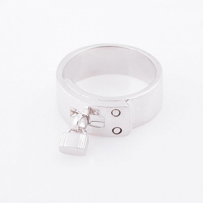 Серебряное кольцо Замочек 000080129