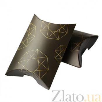 Брендовая коробочка-подушечка Zlato из дизайнерского картона, 80х59х20мм 000055303