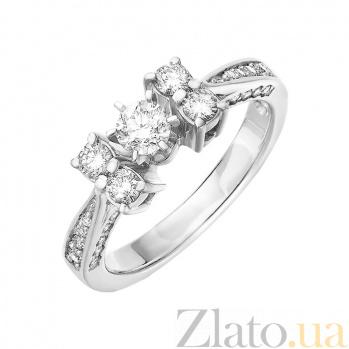 Кольцо из белого золота Мистраль с бриллиантами 000045909
