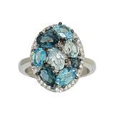 Серебряное кольцо с топазами Сесиль