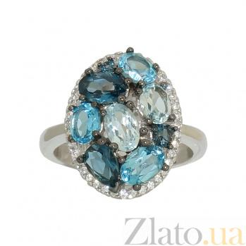 Серебряное кольцо с топазами Сесиль 3К846-0372