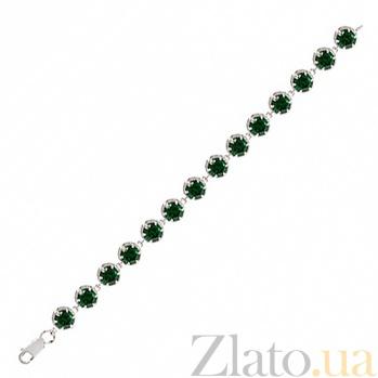 Серебряный браслет с цирконием Мелани BGS--648/14Б