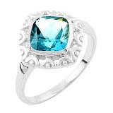 Серебряное кольцо Гиацинта с синтезированным топазом лондон