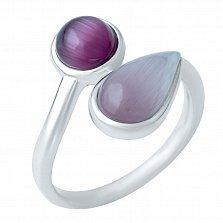 Серебряное кольцо Вирджиния с кошачьим глазом