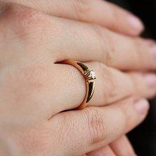 Золотое кольцо с бриллиантом Мой свет