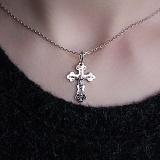 Серебряный крестик Спаситель с золотой накладкой