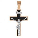 Золотой крест с агатом Благополучие