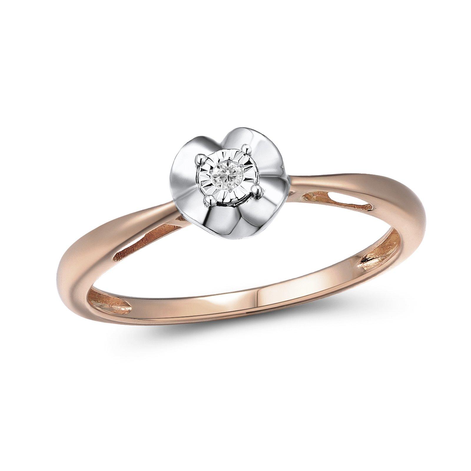 Кольцо из красного и белого золота Далила с бриллиантом