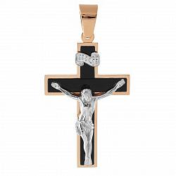Золотой крест с агатом Благополучие 000033659