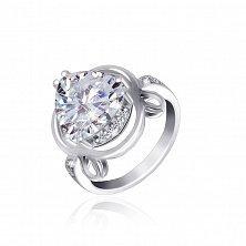Серебряное кольцо Персис с фианитами