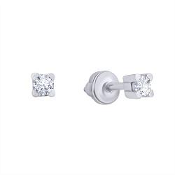 Серебряные серьги-пуссеты Молли с цирконием