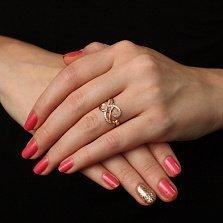 Золотое кольцо Мьянма с кристаллами циркония