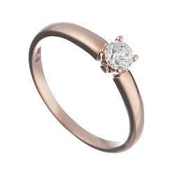 Золотое кольцо с бриллиантом Кристелль