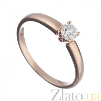 Золотое кольцо с бриллиантом Кристелль 1К035-0243